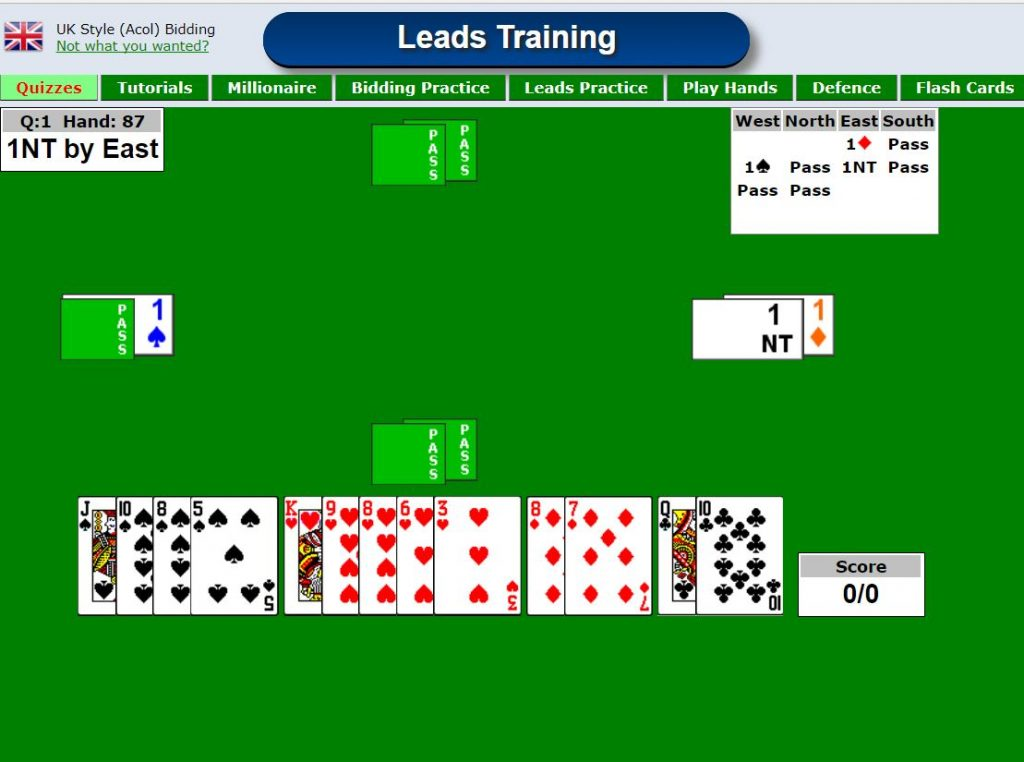 Which card to lead in bridge